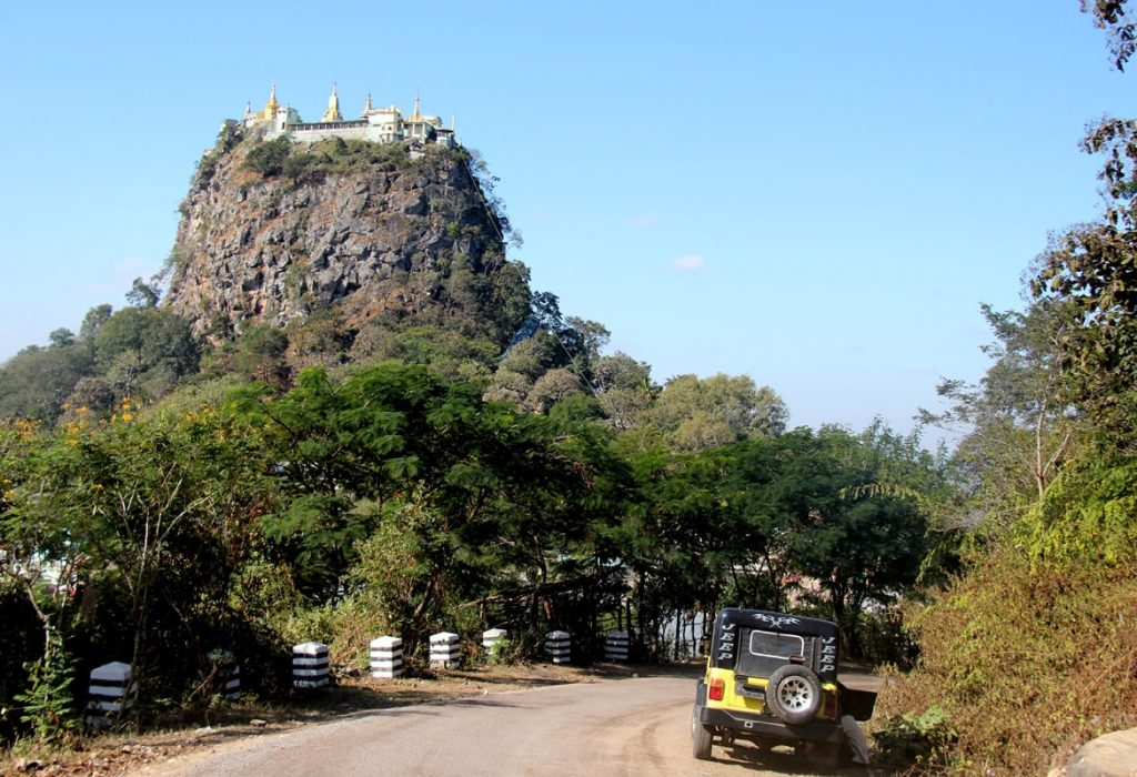 View over Mount Popa, Maynmar, Bagan